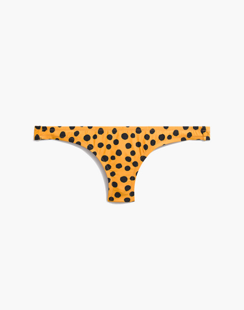 Lowrider Bikini Bottom in Leopard Dot in animal spot cumin image 4