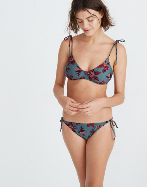 Madewell Hipster String Bikini Bottom in Winter Orchid in brigette dusty burgundy image 1