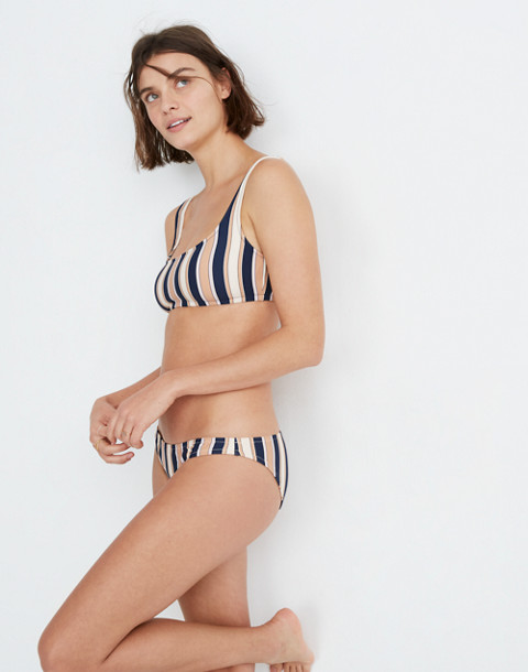 Lowrider Bikini Bottom in Academy Stripe in december deep navy image 2