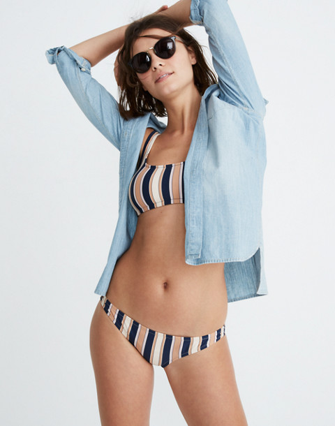 Lowrider Bikini Bottom in Academy Stripe in december deep navy image 1