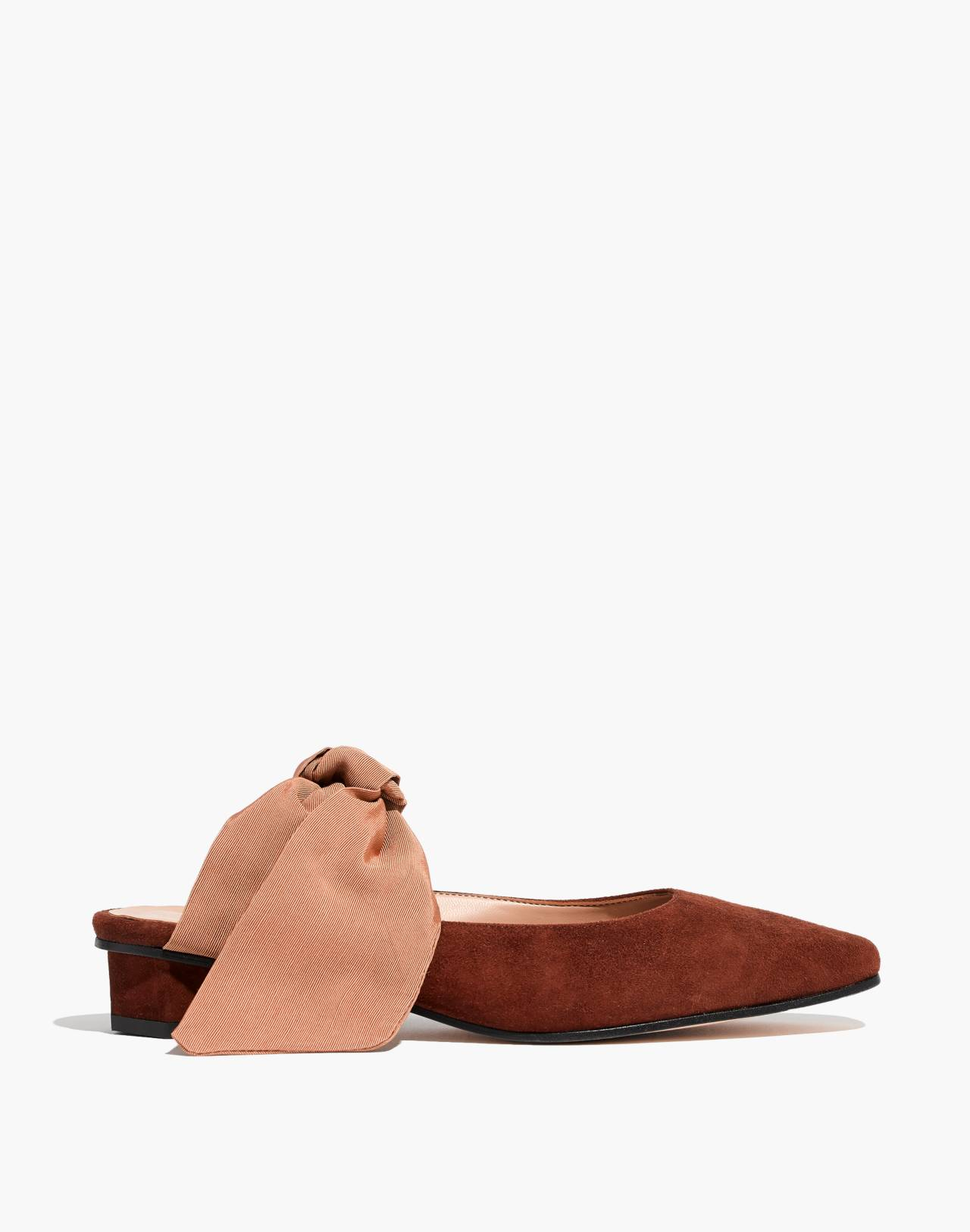 About Arianne Tina Suede Bow Mules in brandy image 3