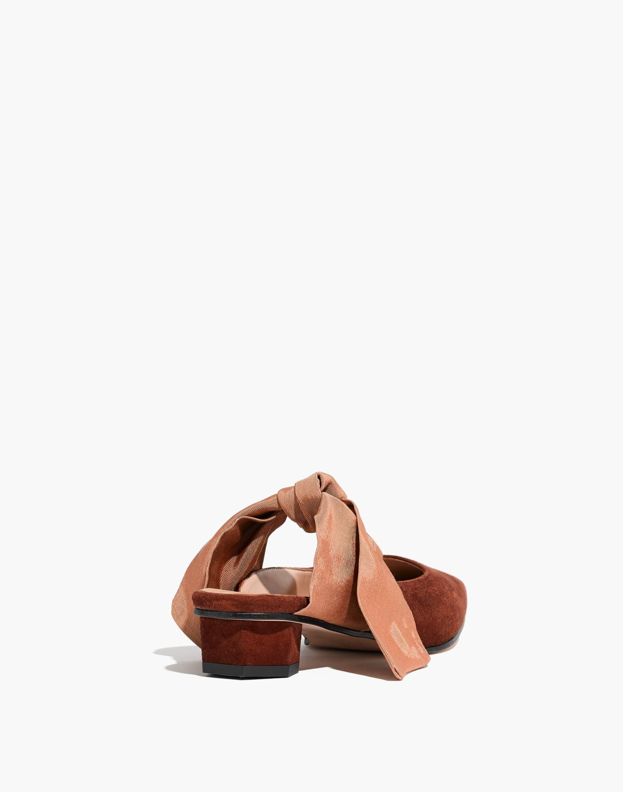 About Arianne Tina Suede Bow Mules in brandy image 4