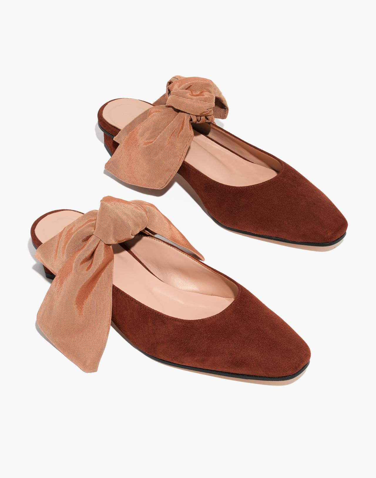About Arianne Tina Suede Bow Mules in brandy image 1