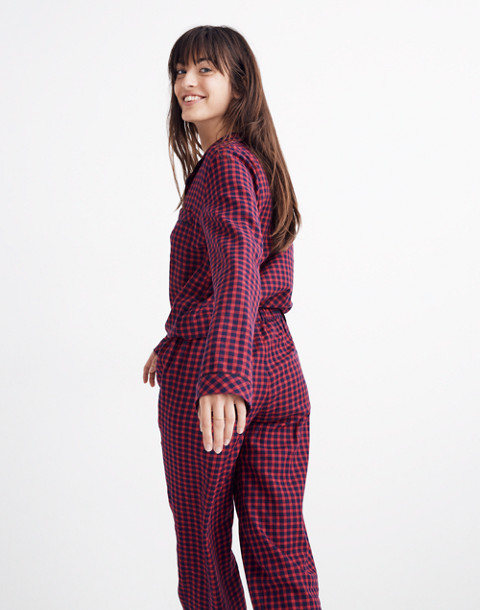 Bedtime Pajama Pants in Gingham Check in cranberry shadow gingham image 3