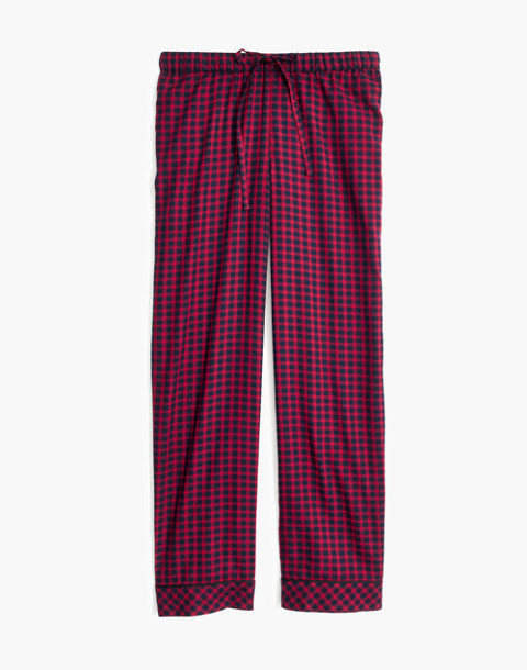 Bedtime Pajama Pants in Gingham Check in cranberry shadow gingham image 4