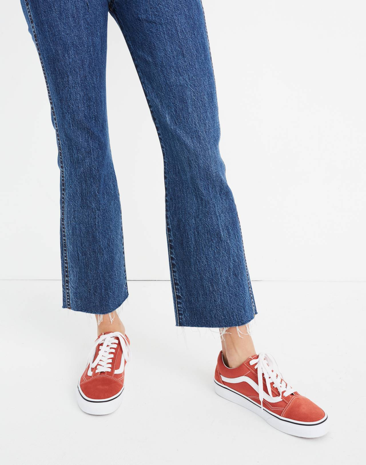 Tall Rigid Demi-Boot Crop Jeans in MacGill Wash in macgill wash image 3