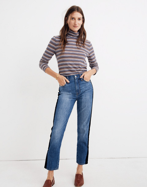 The Perfect Vintage Jean: Velvet Tux Stripe Edition in banbury wash image 2