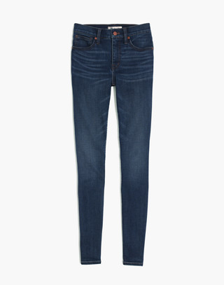 "Petite 10"" High-Rise Skinny Jeans in Tarren Wash: THERMOLITE® Edition in tarren wash image 3"