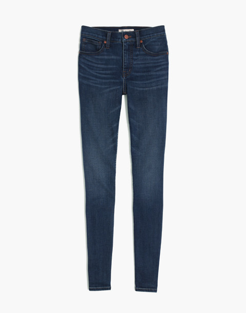 "Tall 10"" High-Rise Skinny Jeans in Tarren Wash: THERMOLITE® Edition in tarren wash image 3"
