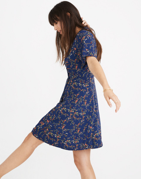 Amaranth Wrap Dress in Moonless Floral in whisper moonless night image 2