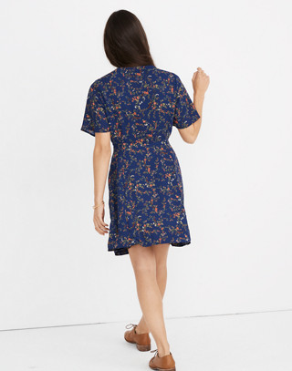 Amaranth Wrap Dress in Moonless Floral in whisper moonless night image 3