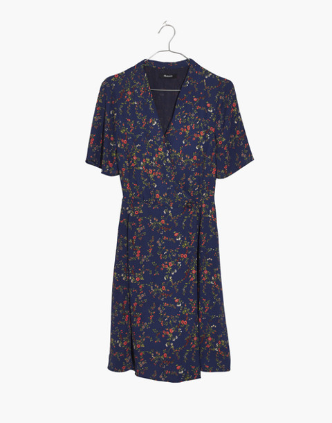 Amaranth Wrap Dress in Moonless Floral in whisper moonless night image 4