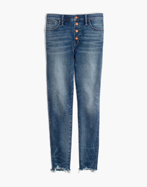 "10"" High-Rise Skinny Jeans in Cordova Wash: Button-Front Edition in cordova wash image 4"