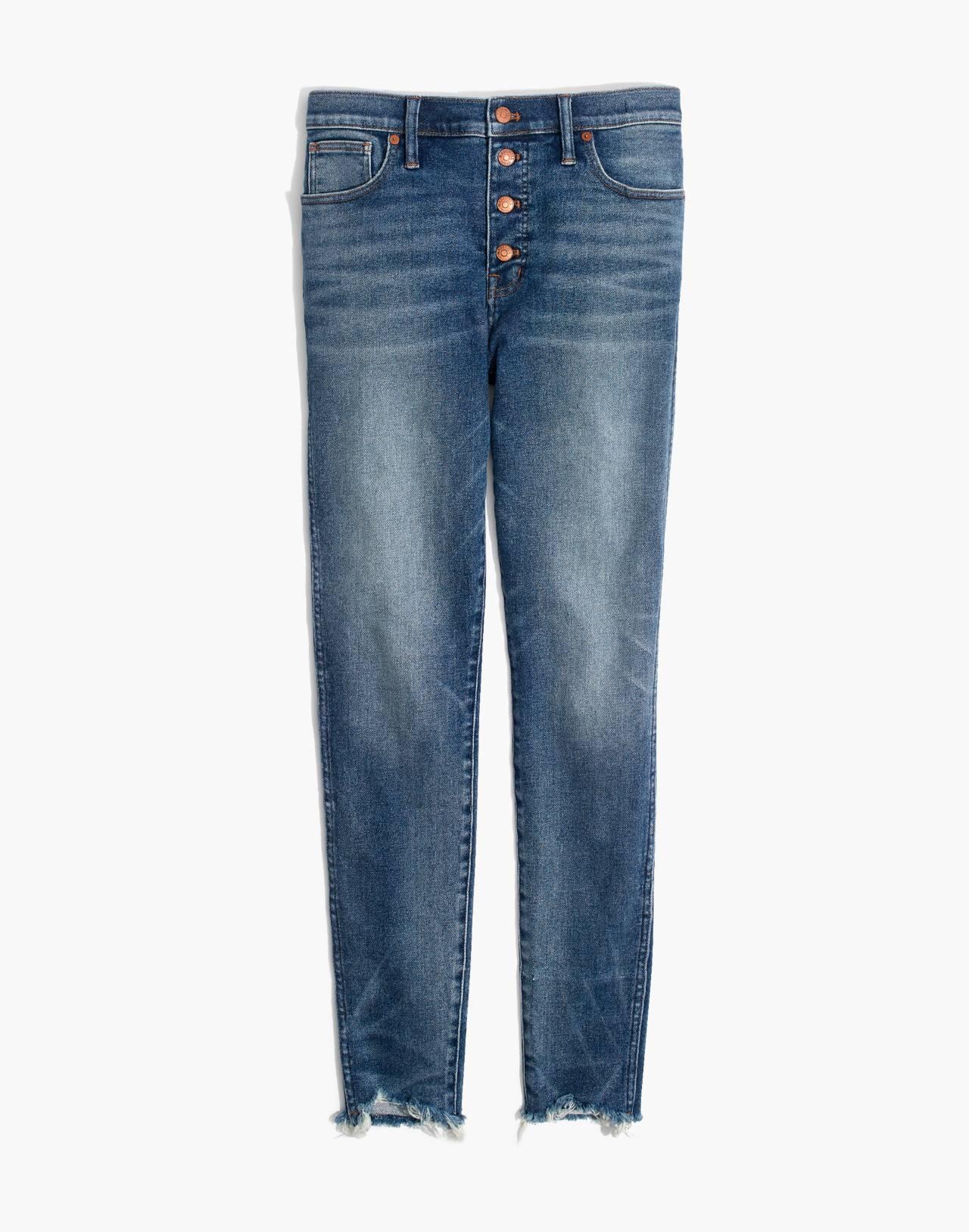 """10"""" High-Rise Skinny Jeans in Cordova Wash: Button-Front Edition in cordova wash image 4"""