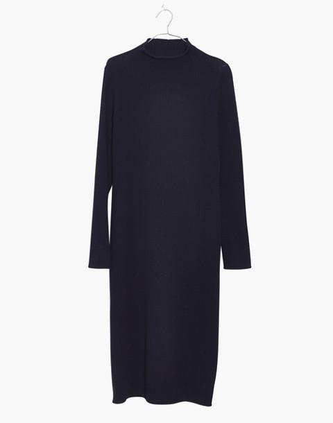 Mockneck Midi Sweater-Dress in navy image 4