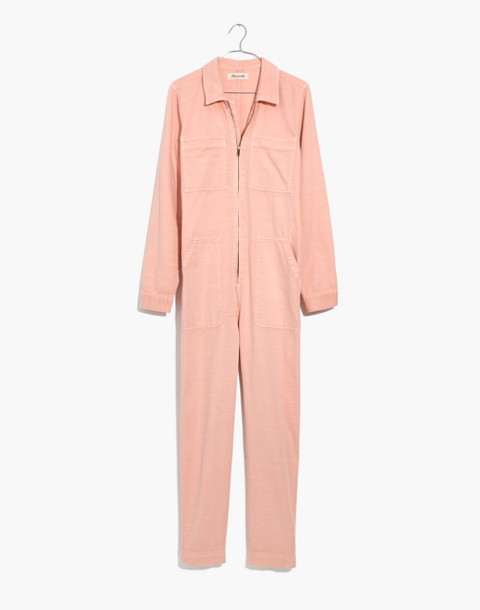 Zip-Front Coverall Jumpsuit in pink oyster image 4