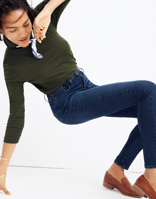 Tall Curvy High-Rise Skinny Jeans in Tarren Wash: THERMOLITE® Edition in tarren wash image 3