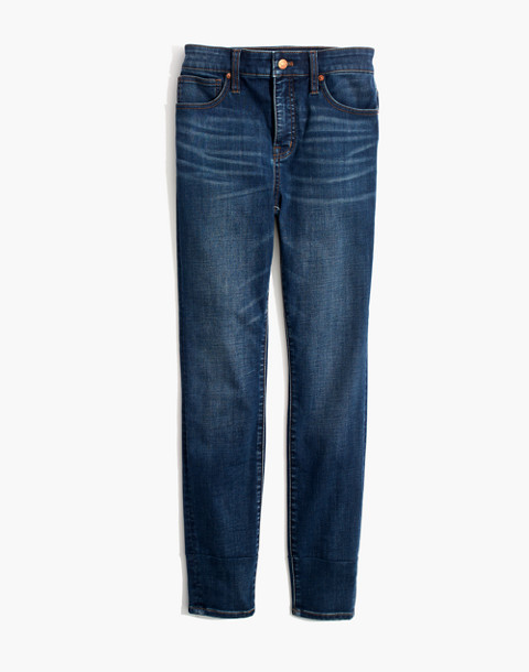 Curvy High-Rise Skinny Jeans in Tarren Wash: THERMOLITE® Edition in tarren wash image 4