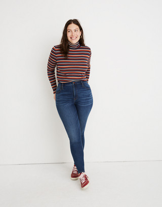 Tall Curvy High-Rise Skinny Jeans in Tarren Wash: THERMOLITE® Edition in tarren wash image 1