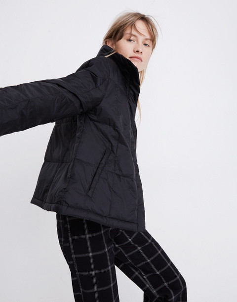 Travel Buddy Packable Puffer Jacket in true black image 2