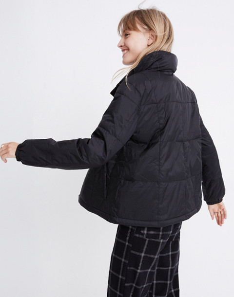 Travel Buddy Packable Puffer Jacket in true black image 3