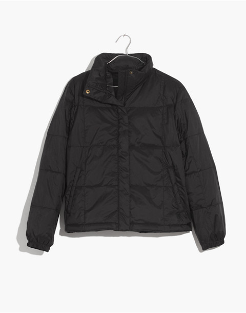 Travel Buddy Packable Puffer Jacket in true black image 4