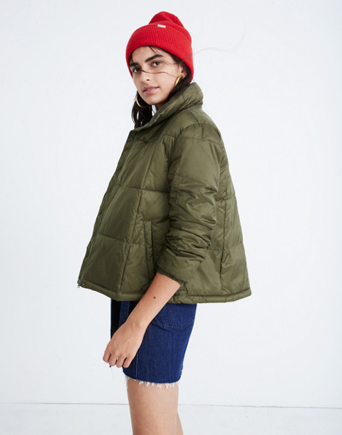 Travel Buddy Packable Puffer Jacket in military surplus image 2