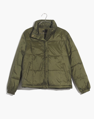 Travel Buddy Packable Puffer Jacket in military surplus image 4