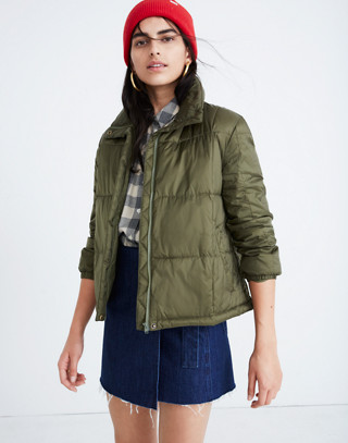 Travel Buddy Packable Puffer Jacket in military surplus image 1