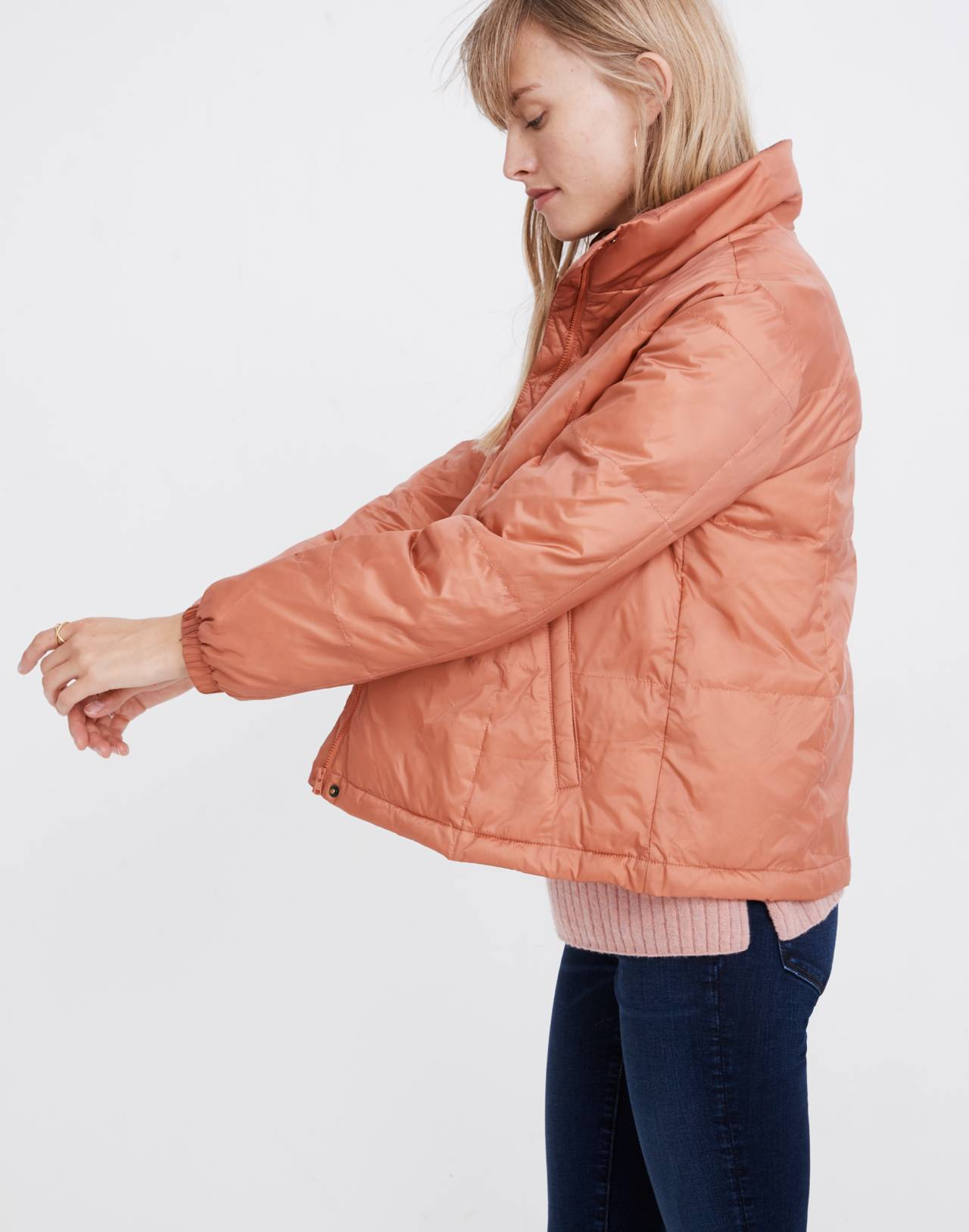 Travel Buddy Packable Puffer Jacket in sweet dahlia image 3