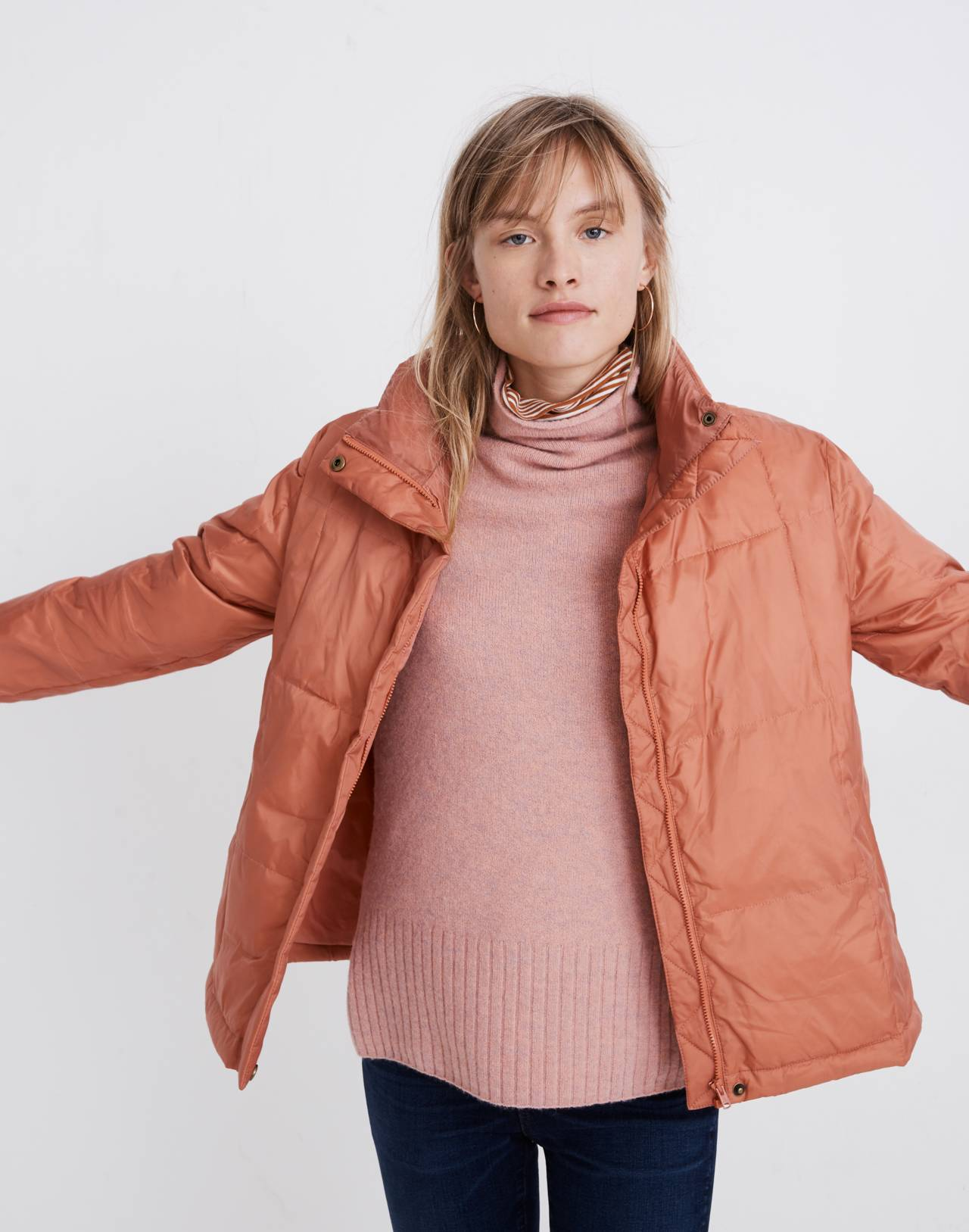 Travel Buddy Packable Puffer Jacket in sweet dahlia image 1