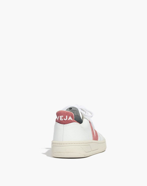 Madewell x Veja™ V-10 Sneakers in Pink Glitter in white pink image 4