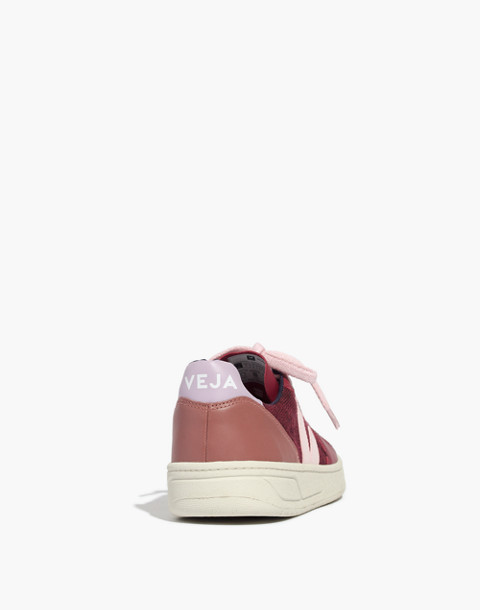 Veja™ V-10 Sneakers in Leather and Pixel in burgundy image 4