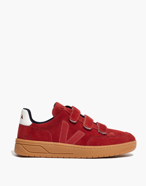 Veja™ V-12 Velcro® Sneakers in Red Suede in red image 3