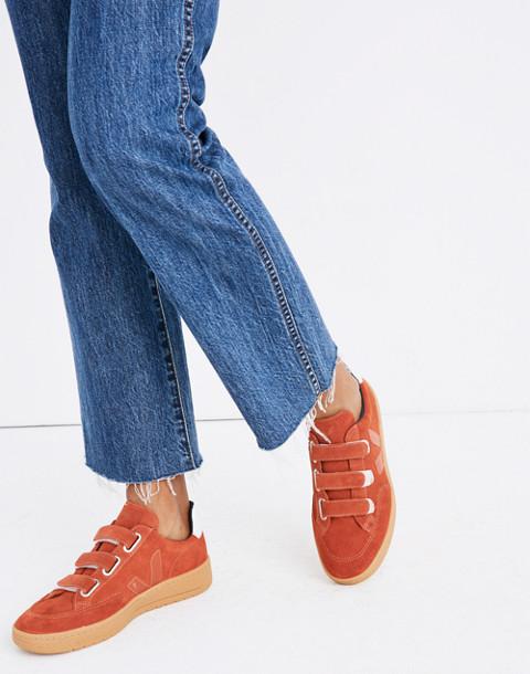 Veja™ V-12 Velcro® Sneakers in Red Suede in red image 2