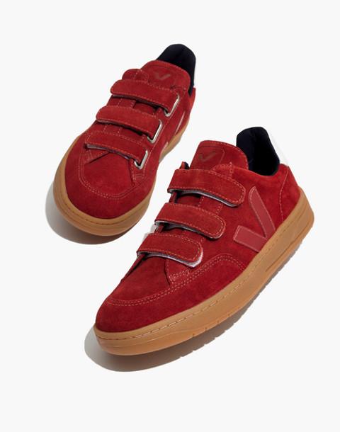 Veja™ V-12 Velcro® Sneakers in Red Suede in red image 1