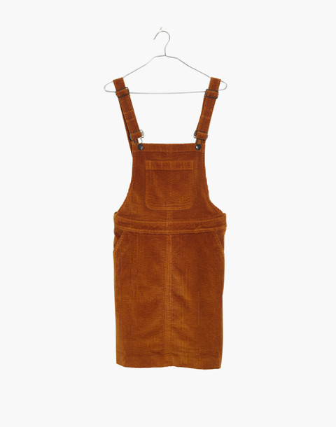 Corduroy Overall Dress in carrot cake image 4