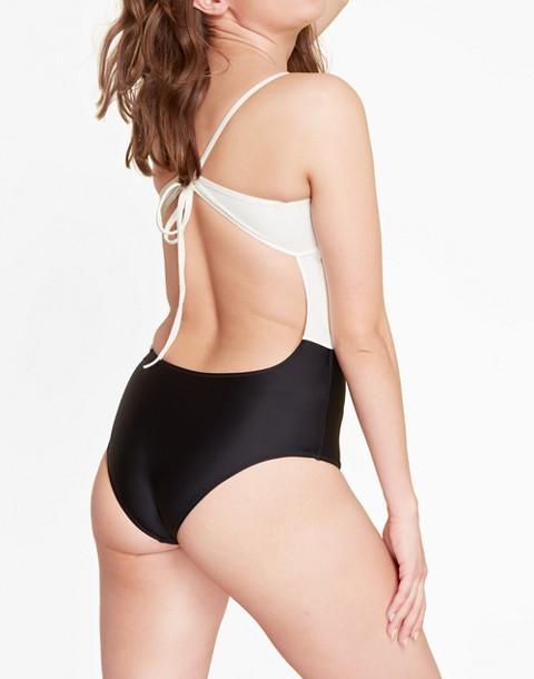 Summersalt® Swan Dive One-Piece Swimsuit in black image 2