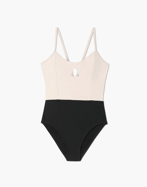 Summersalt® Swan Dive One-Piece Swimsuit in black image 4