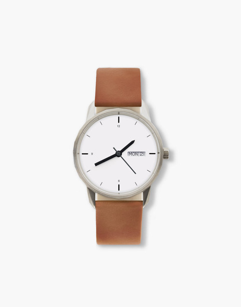 Tinker™ 34mm Silver-Toned Watch in brown image 1
