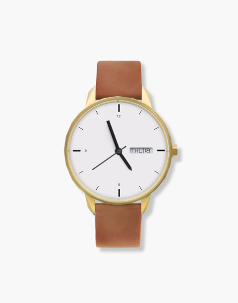 Tinker™ 42mm Gold-Toned Watch in brown image 1