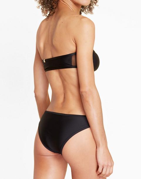 Summersalt® Mesh-Trimmed Cabana Bikini Top in black image 2