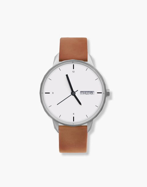 Tinker™ 42mm Silver-Toned Watch in brown image 1