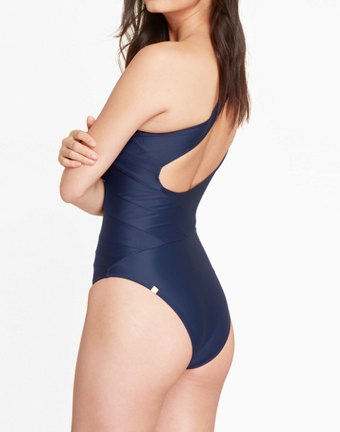 Summersalt® Sidestroke One-Piece Swimsuit in blue image 2