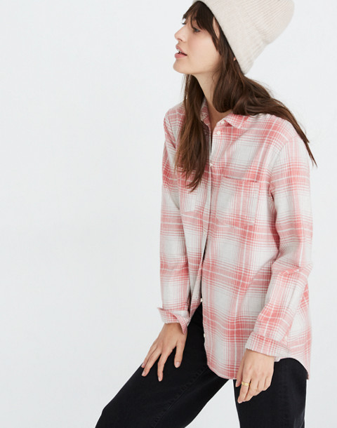 Flannel Sunday Shirt in Pink Plaid in harris plaid red as per image 2