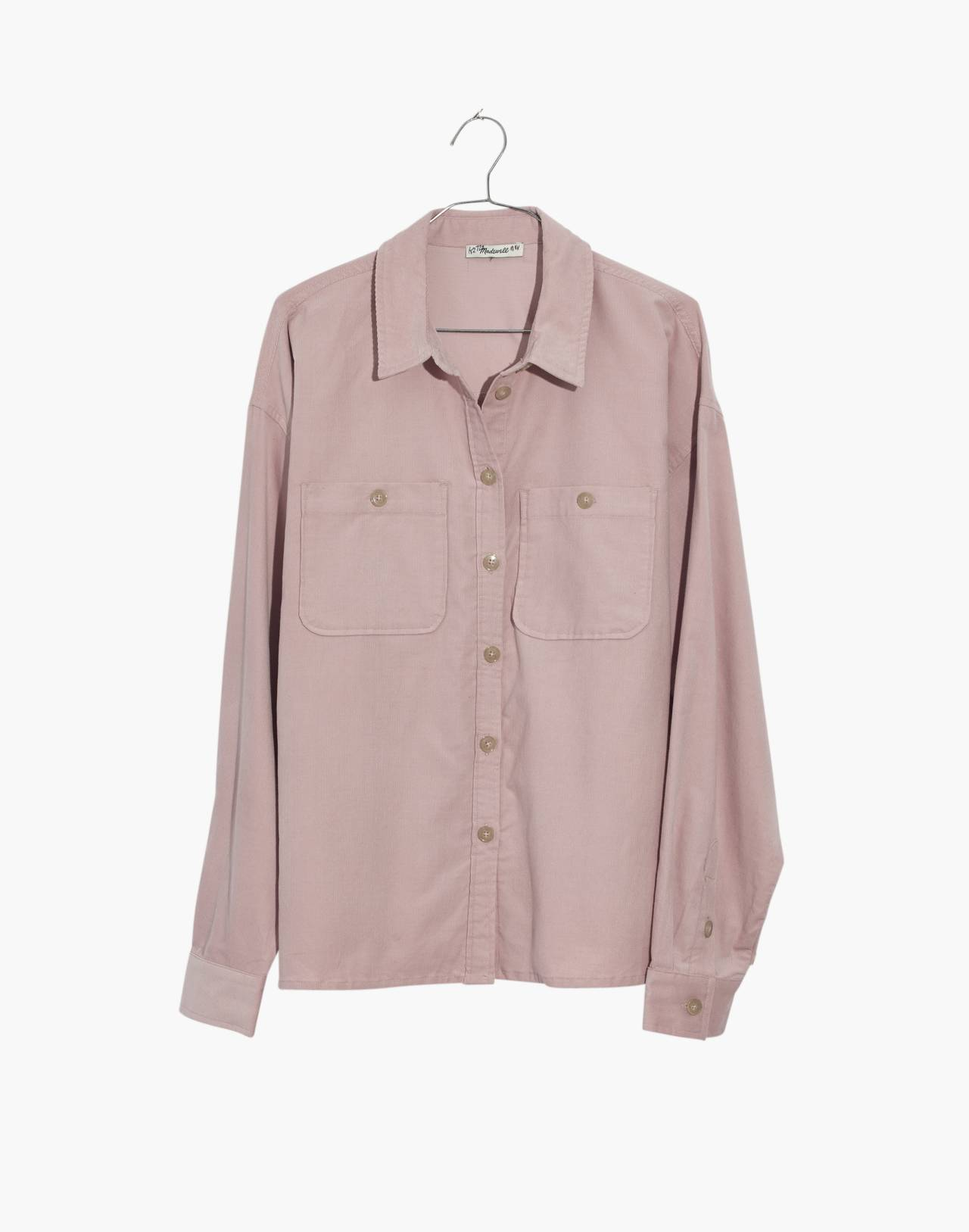 Corduroy Shirt-Jacket in wisteria dove image 4