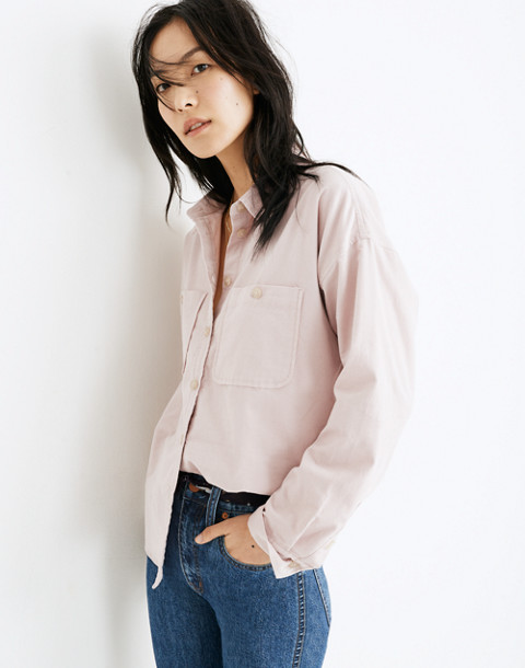 Corduroy Shirt-Jacket in wisteria dove image 1
