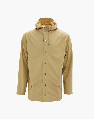 Unisex RAINS® Rain Jacket in Desert in brown image 1