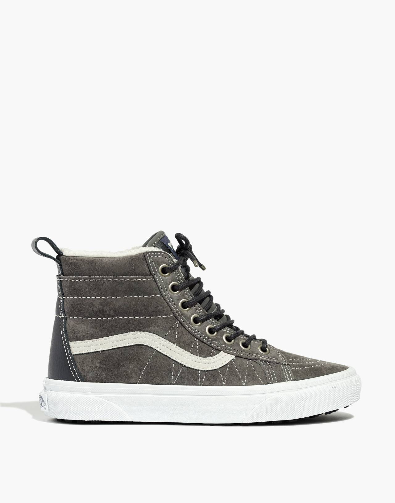 Vans® Unisex Sk8-Hi MTE High-Top Sneakers in Suede in pewter asphalt image 2