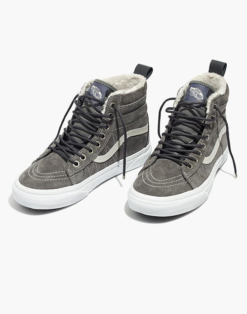 c03790207d Vans reg  Unisex Sk8-Hi MTE High-Top Sneakers in Suede in pewter asphalt